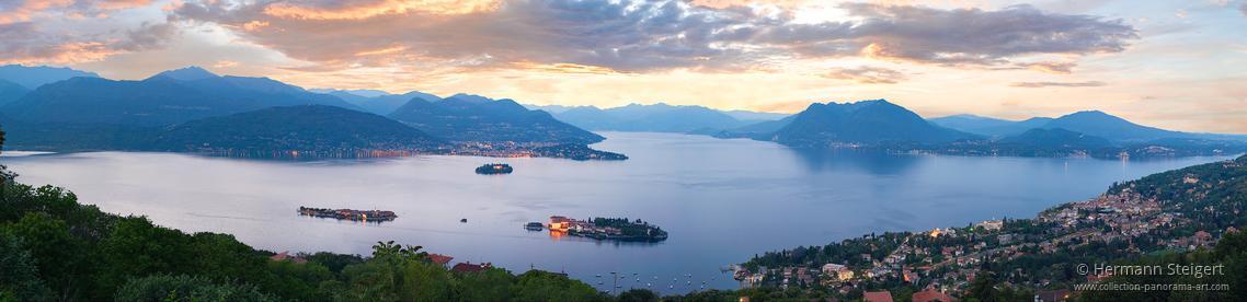 Blick auf Isola Bella am Abend am Abend