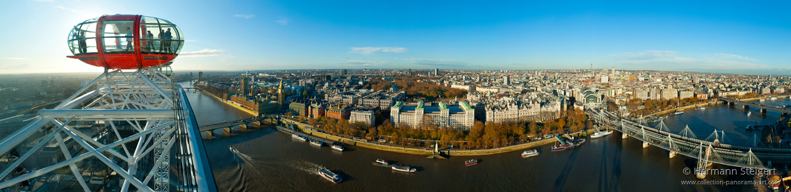 View of London from the top of London Eye