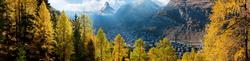 Blick auf Zermatt und das Matterhorn