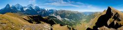 Blick vom Lauberhorn auf Eiger, Mönch und Jungfrau 1