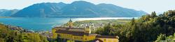 Locarno - Blick auf Madonna del Sasso und die Stadt