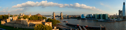 The Tower of London, the Tower Bridge and the Shard