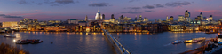 View from Tate Modern on the Millenium Bridge and St Pauls Cathedral in the background
