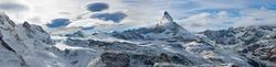 Vom Gornergrat mit Blick auf das Matterhorn